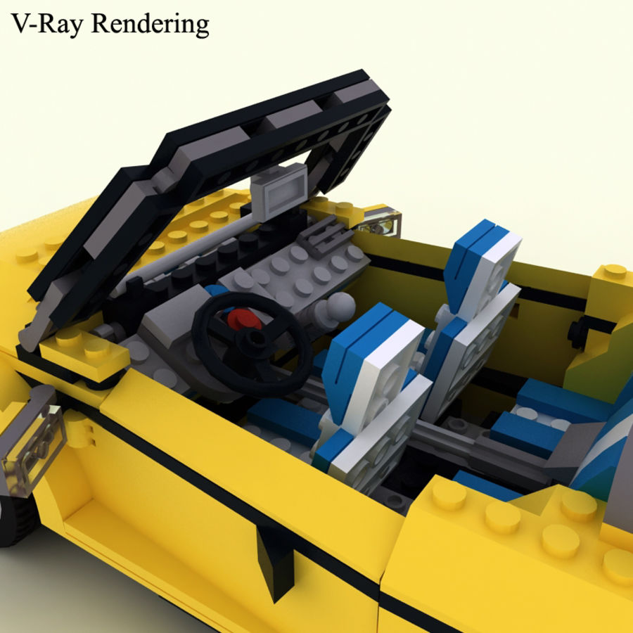 Lego Cool Cruiser 5767 royalty-free 3d model - Preview no. 6
