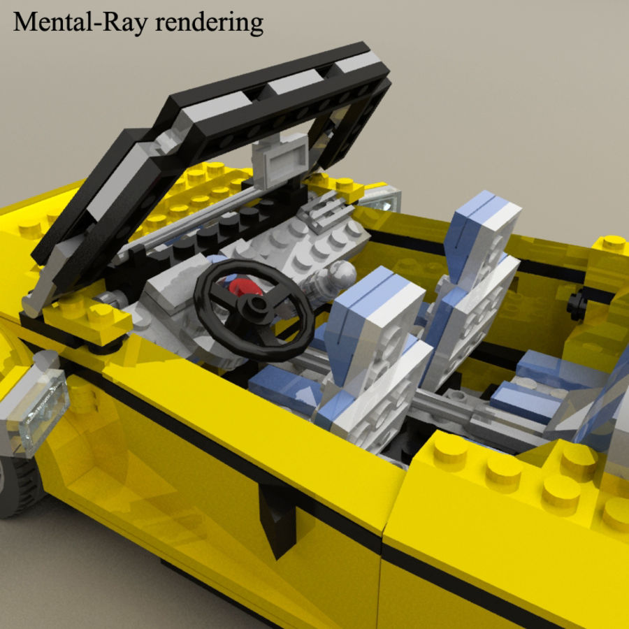 Lego Cool Cruiser 5767 royalty-free 3d model - Preview no. 10
