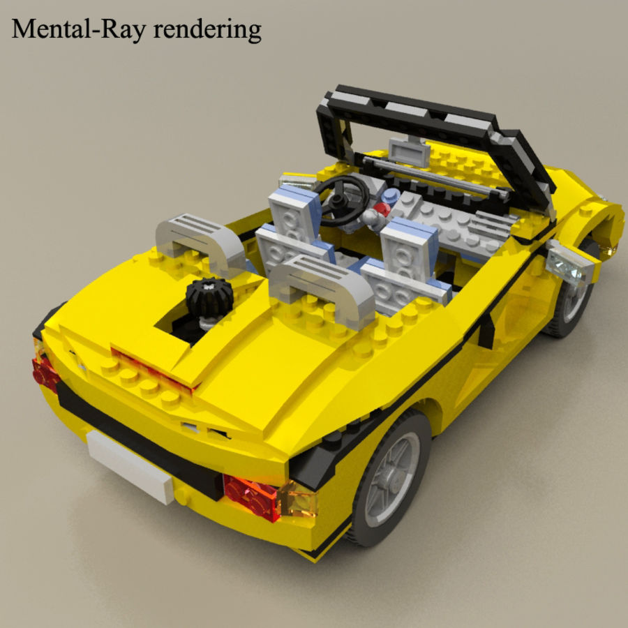 Lego Cool Cruiser 5767 royalty-free 3d model - Preview no. 9