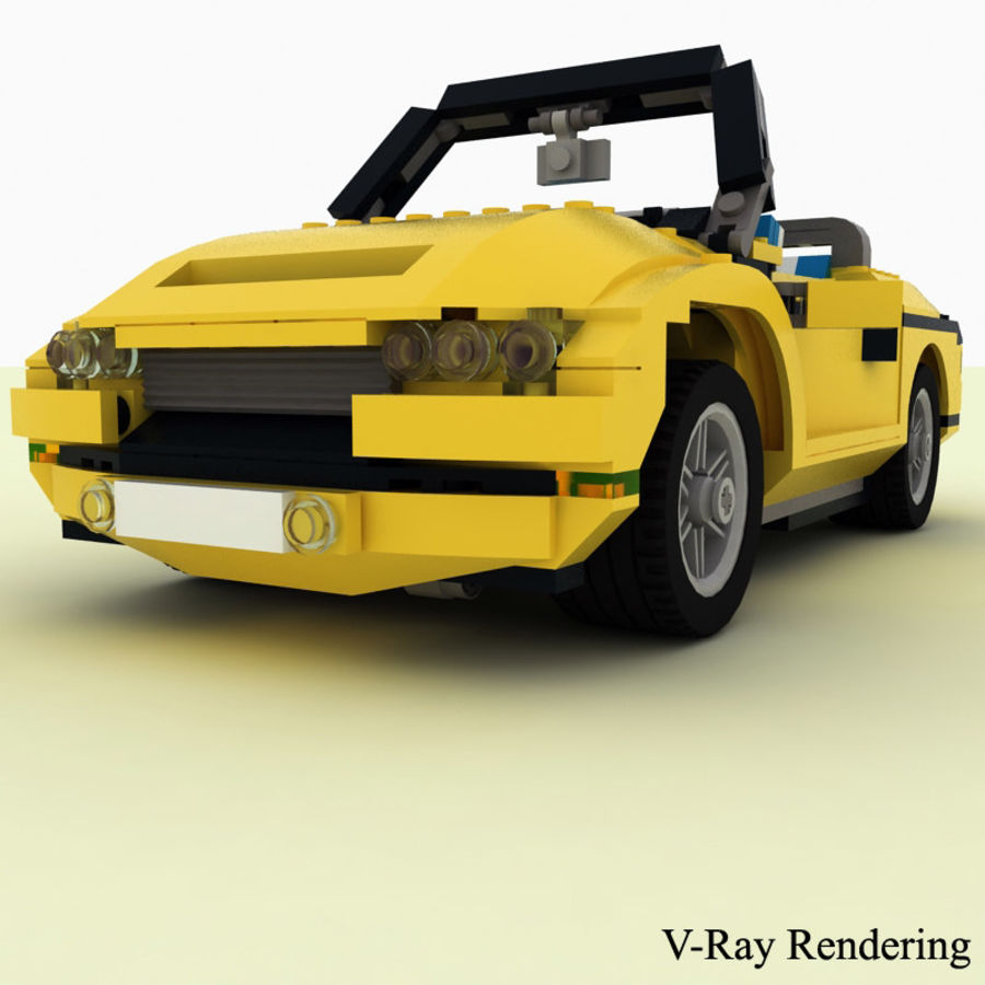 Lego Cool Cruiser 5767 royalty-free 3d model - Preview no. 5
