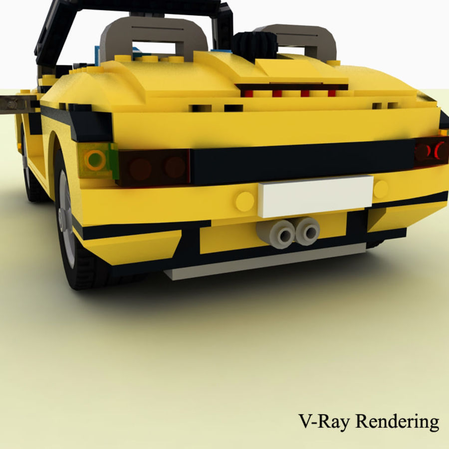 Lego Cool Cruiser 5767 royalty-free 3d model - Preview no. 4