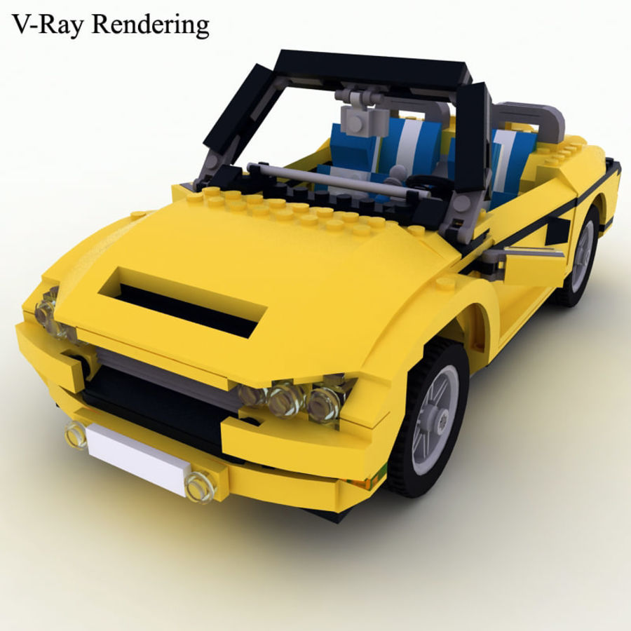 Lego Cool Cruiser 5767 royalty-free 3d model - Preview no. 2