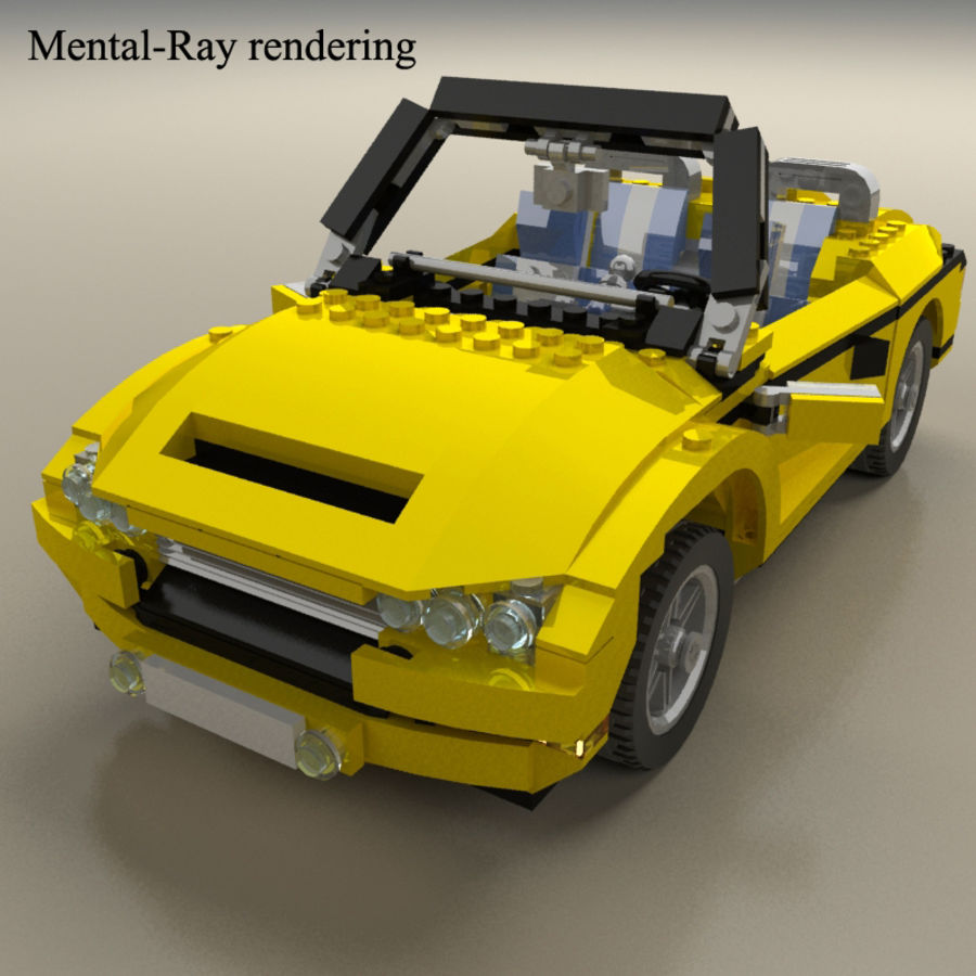 Lego Cool Cruiser 5767 royalty-free 3d model - Preview no. 8