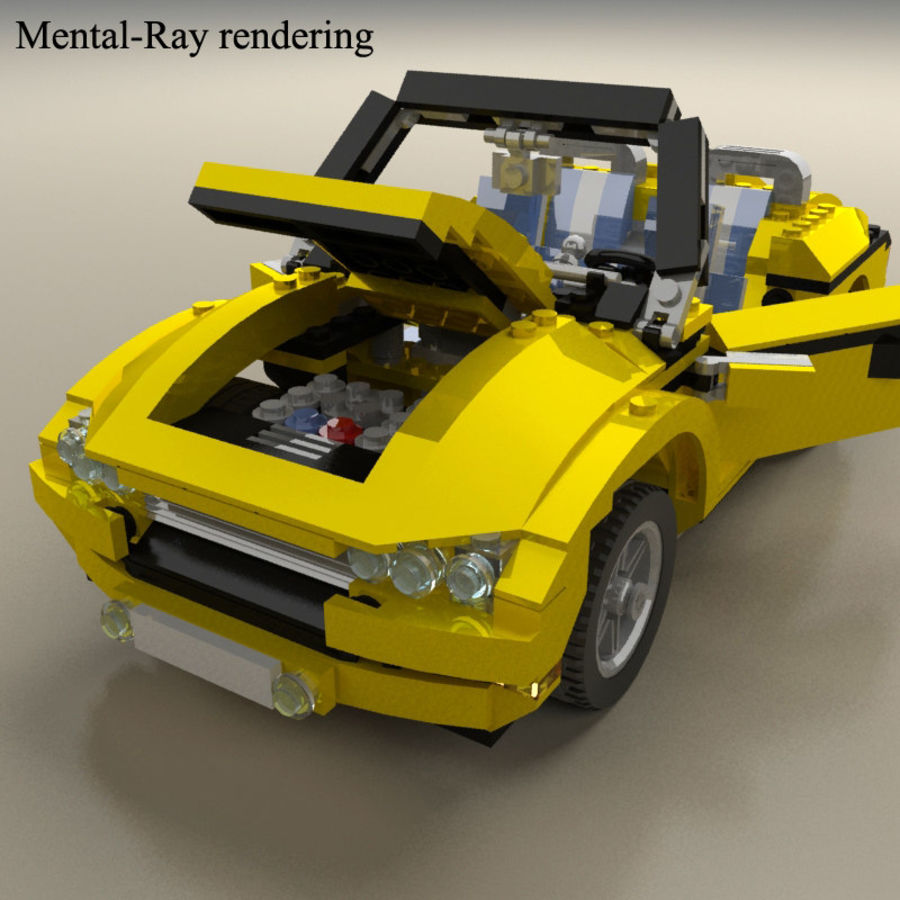 Lego Cool Cruiser 5767 royalty-free 3d model - Preview no. 11