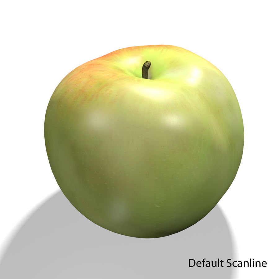 Apple royalty-free 3d model - Preview no. 11