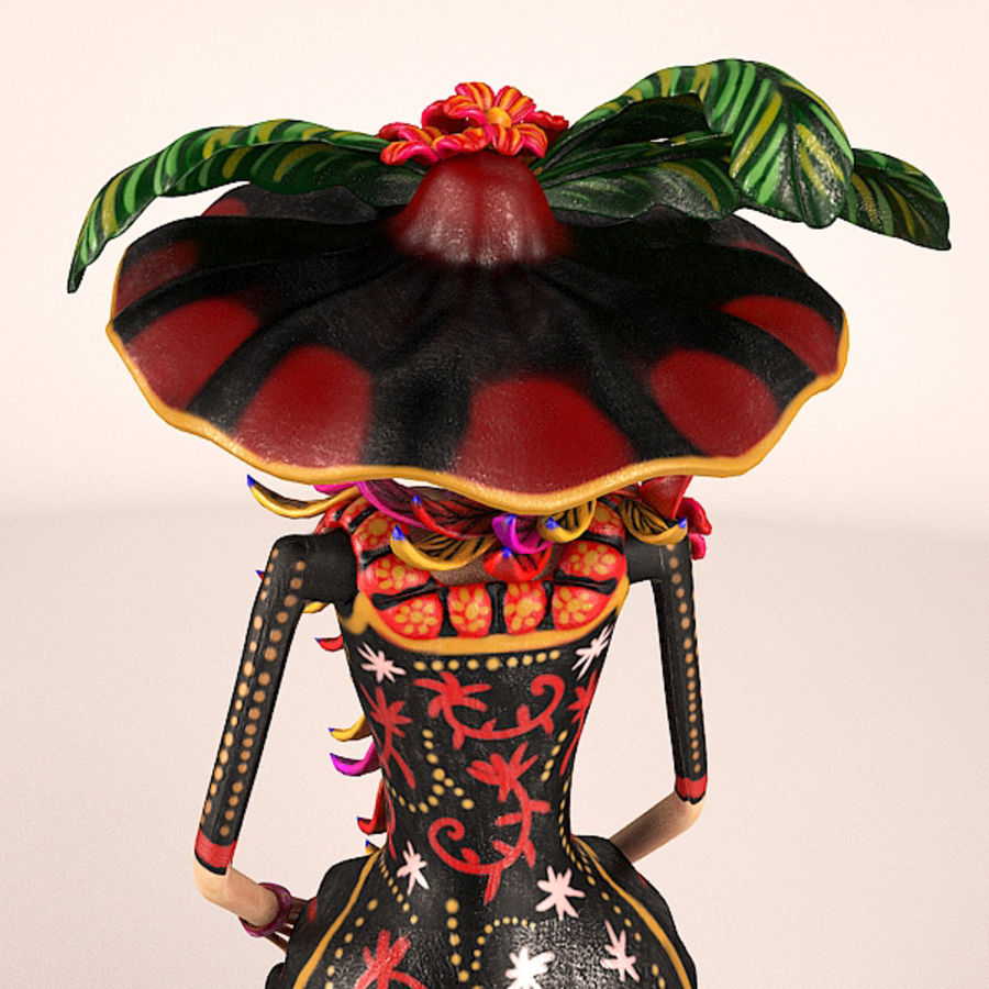 Catrina Şapkası royalty-free 3d model - Preview no. 5