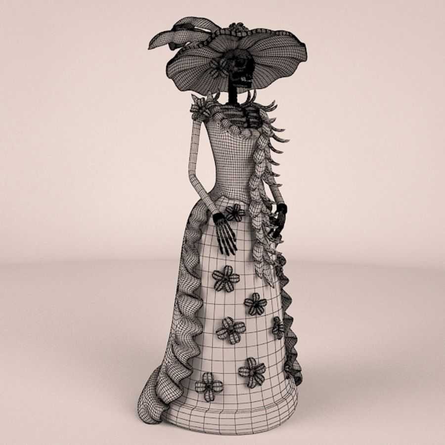 Catrina Şapkası royalty-free 3d model - Preview no. 6