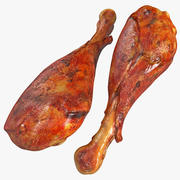 Smoked Turkey Leg 3d model