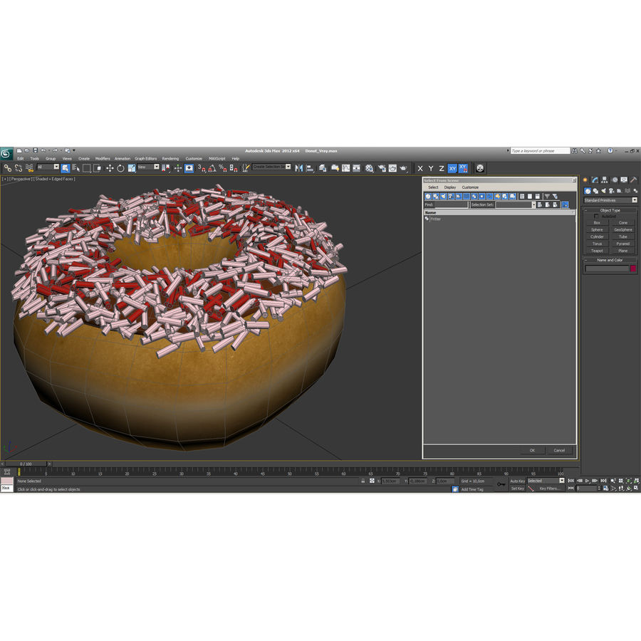 Tatlı çörek royalty-free 3d model - Preview no. 19