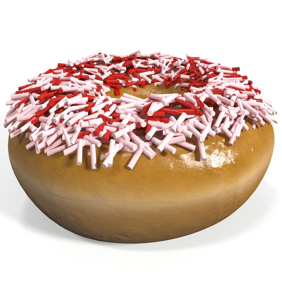 Donut royalty-free 3d model - Preview no. 6