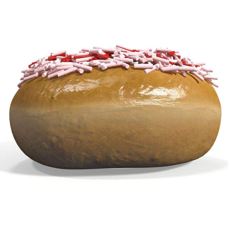 Krapfen royalty-free 3d model - Preview no. 4