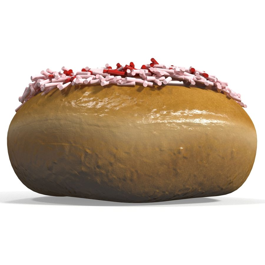 Krapfen royalty-free 3d model - Preview no. 7