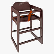 Finish Stacking High Chair Winco Walnut 3d model