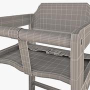 İstifleme Yüksek Sandalye Winco Ceviz 3d model