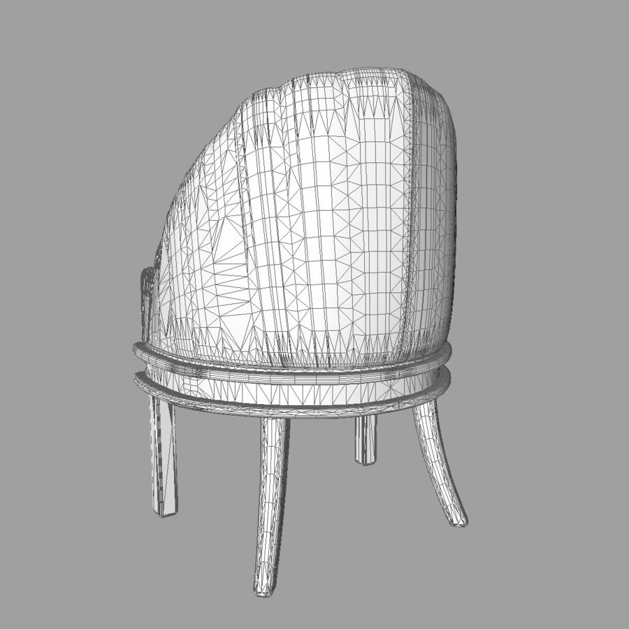 Silla de bañera tradicional royalty-free modelo 3d - Preview no. 9
