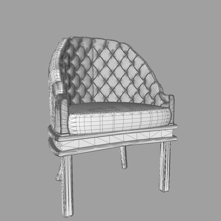 Silla de bañera tradicional royalty-free modelo 3d - Preview no. 10