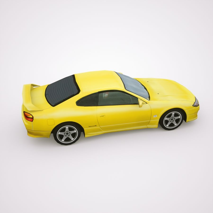 Nissan Silvia 2002 royalty-free 3d model - Preview no. 4
