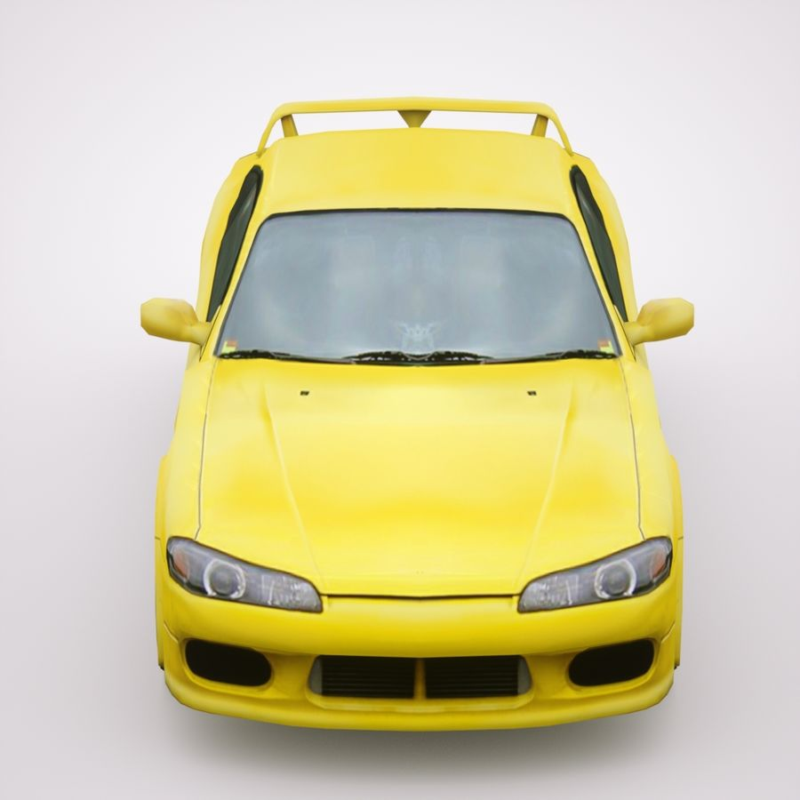 Nissan Silvia 2002 royalty-free 3d model - Preview no. 6