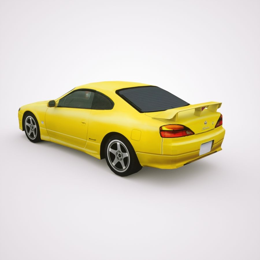 Nissan Silvia 2002 royalty-free 3d model - Preview no. 1