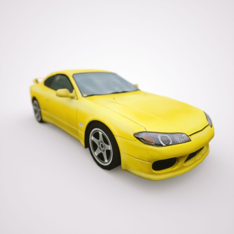 Nissan Silvia 2002 royalty-free 3d model - Preview no. 7