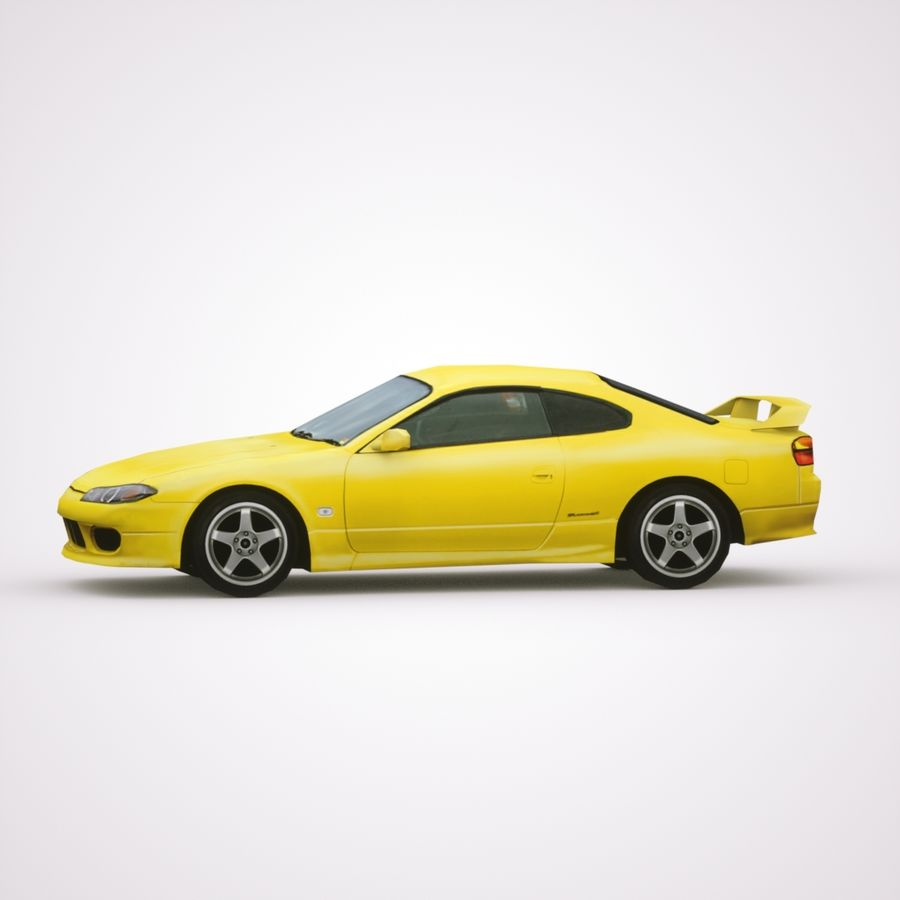 Nissan Silvia 2002 royalty-free 3d model - Preview no. 3