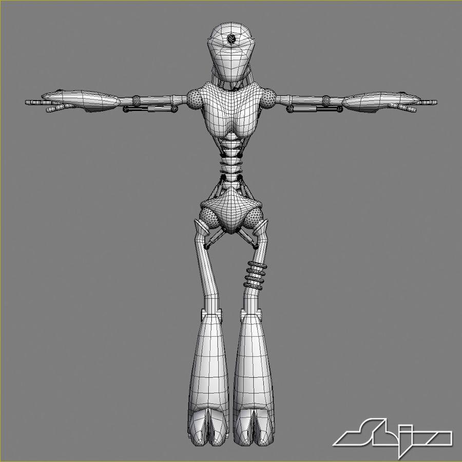 Robot da combattimento royalty-free 3d model - Preview no. 7