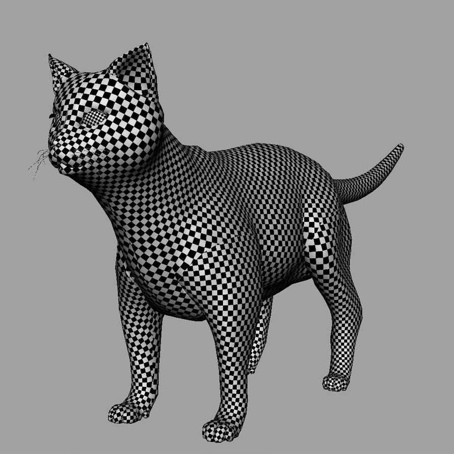 GATTO royalty-free 3d model - Preview no. 3