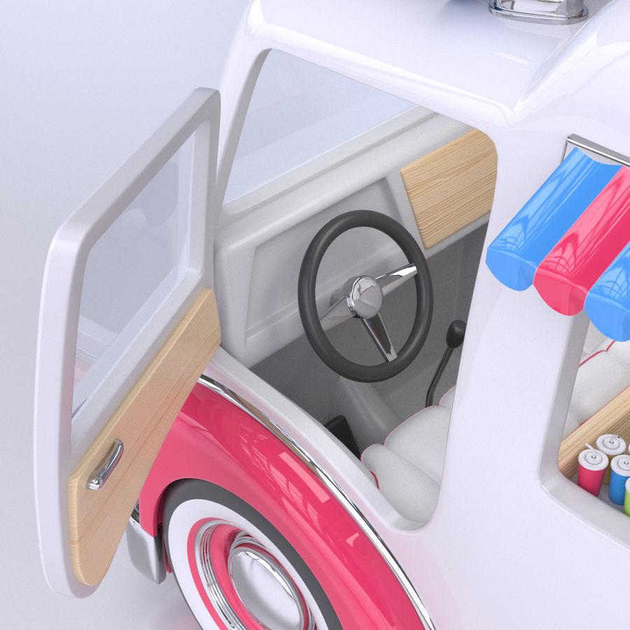 卡通冰淇淋卡车 royalty-free 3d model - Preview no. 5