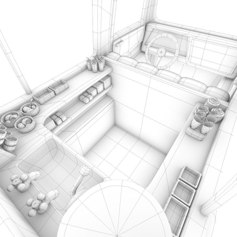 卡通冰淇淋卡车 royalty-free 3d model - Preview no. 8