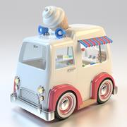 Cartoon Ice Cream Truck 3d model