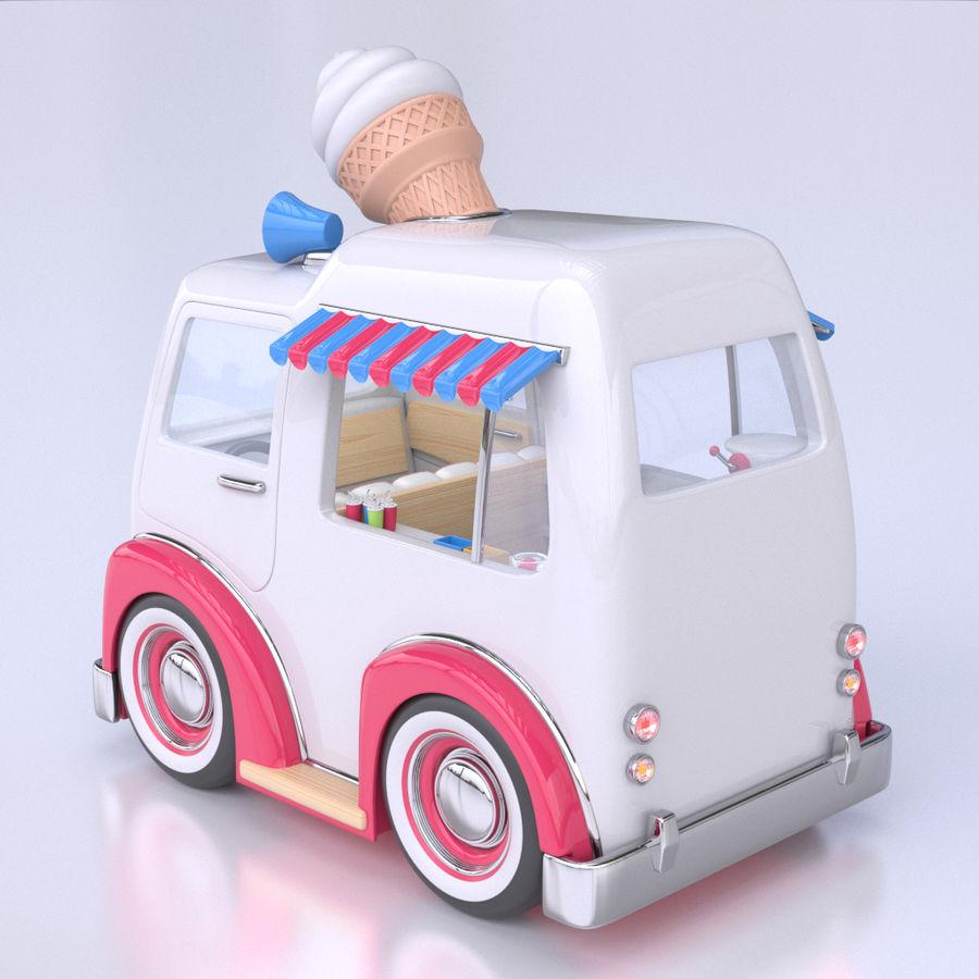 卡通冰淇淋卡车 royalty-free 3d model - Preview no. 3