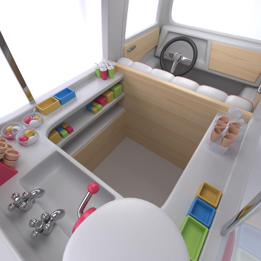 卡通冰淇淋卡车 royalty-free 3d model - Preview no. 7