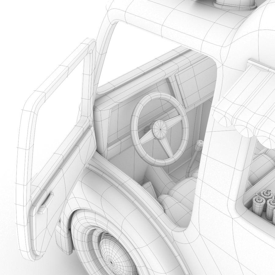 卡通冰淇淋卡车 royalty-free 3d model - Preview no. 6