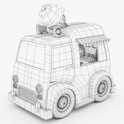 卡通冰淇淋卡车 3d model