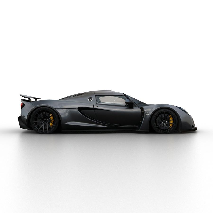 Hennessey Venom GT 2013 royalty-free 3d model - Preview no. 3