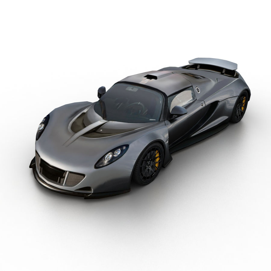 Hennessey Venom GT 2013 royalty-free 3d model - Preview no. 1