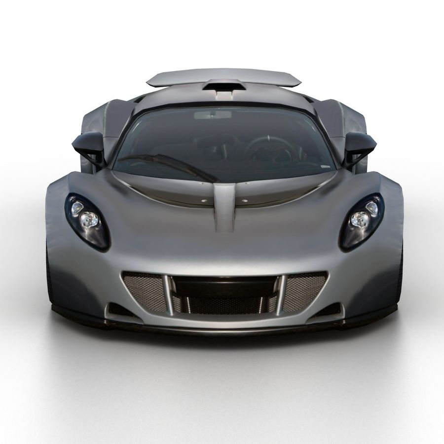 Hennessey Venom GT 2013 royalty-free 3d model - Preview no. 4