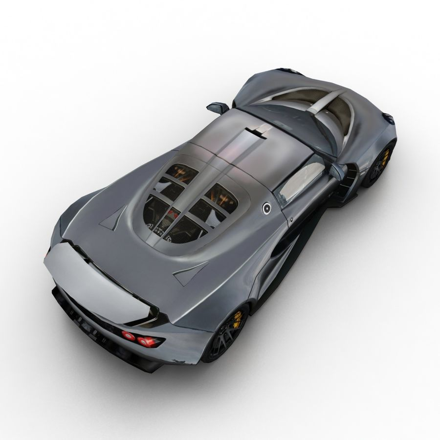 Hennessey Venom GT 2013 royalty-free 3d model - Preview no. 6