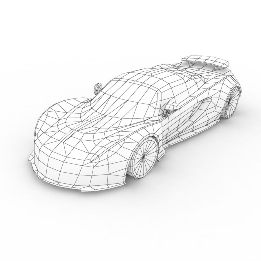 Hennessey Venom GT 2013 royalty-free 3d model - Preview no. 7