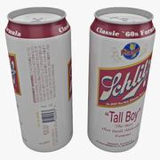 Beer Can Schlitz Tall Boy 3d model