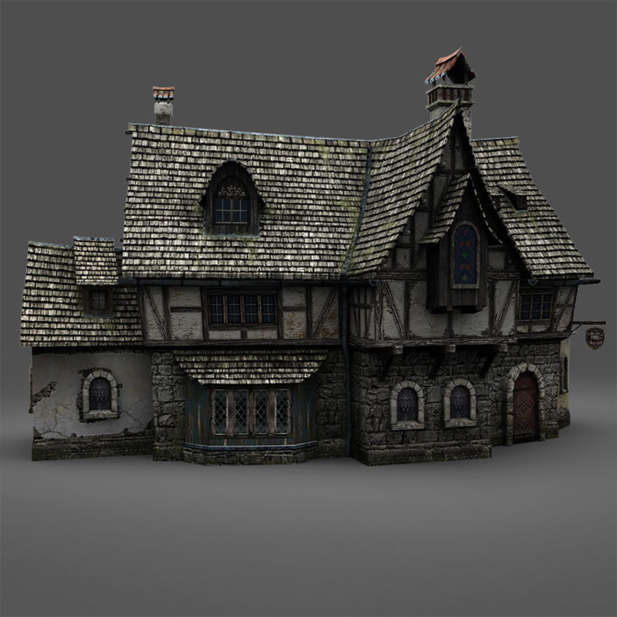 Tavern 2 royalty-free 3d model - Preview no. 2