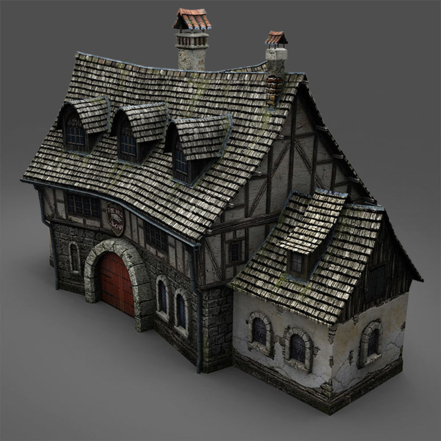 Tavern 2 royalty-free 3d model - Preview no. 9