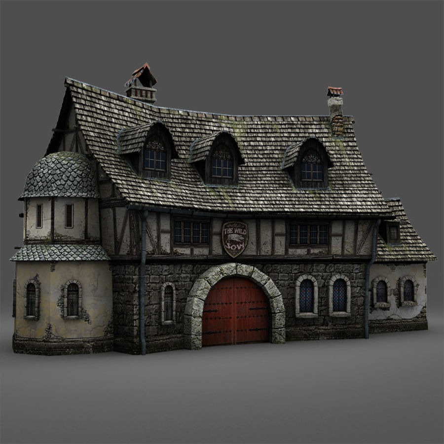 Tavern 2 royalty-free 3d model - Preview no. 4