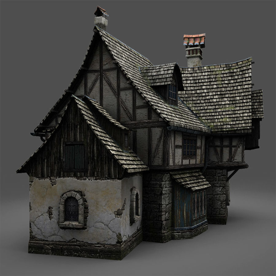 Tavern 2 royalty-free 3d model - Preview no. 7