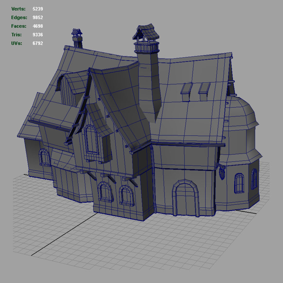Tavern 2 royalty-free 3d model - Preview no. 13