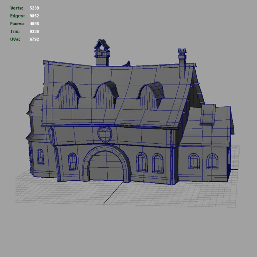 Tavern 2 royalty-free 3d model - Preview no. 14