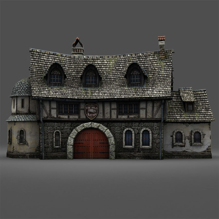 Tavern 2 royalty-free 3d model - Preview no. 10
