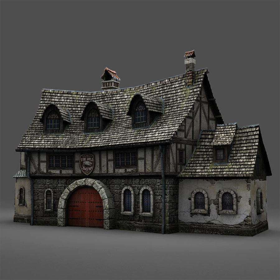 Tavern 2 royalty-free 3d model - Preview no. 5