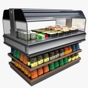Heated Self Serve Merchandiser 3d model