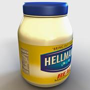 Mayonnaises Bottle Hellmans 3d model